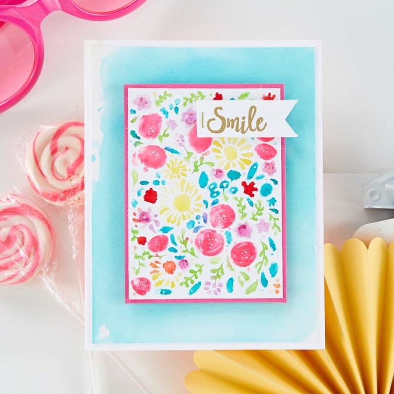 Fun Stampers Journey Kindness Matters Project Kit is Here! Floral Smile Card