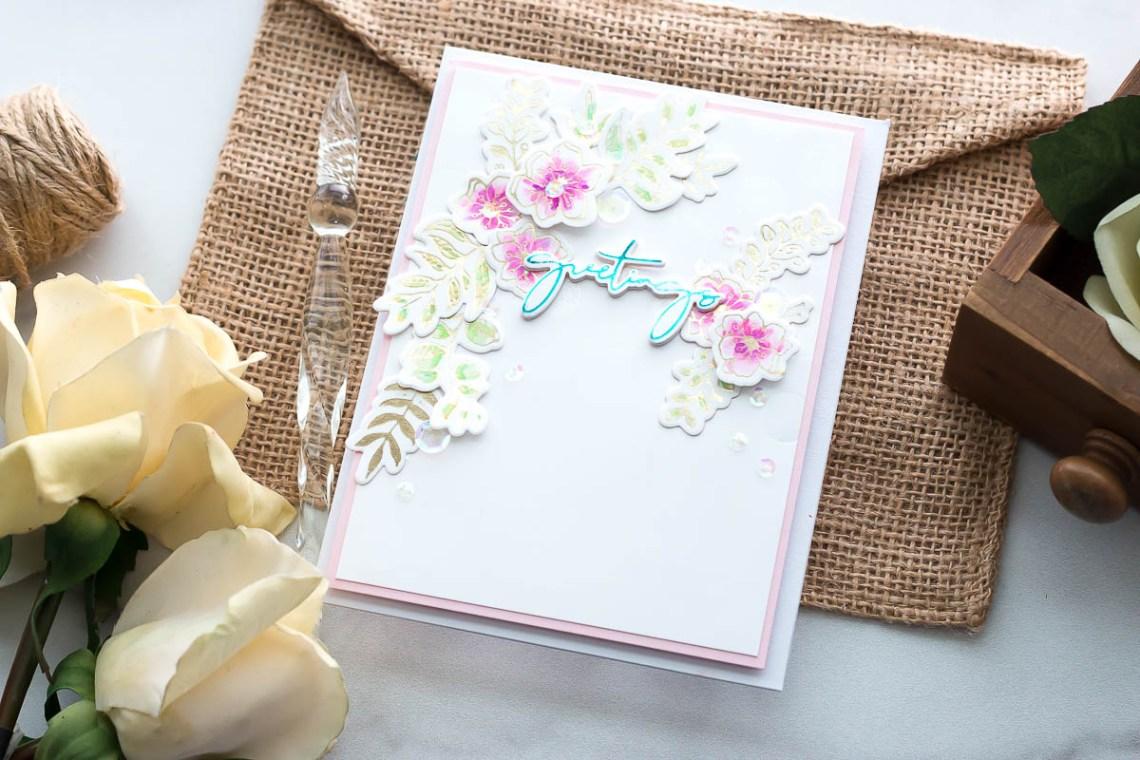 Spellbinders Yana's Foiled Basics collection by Yana Smakula   Foiled Card Ideas with Marie Heiderscheit   Video tutorial #YSFoiledBasics #GlimmerHotFoilSystem #Spellbinders #HotFoiling
