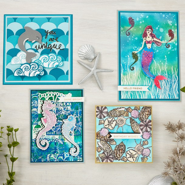 What's New at Spellbinders | Marvelous Mermaids Collection by Jane Davenport #Spellbinders #NeverStopMaking #JaneDavenport