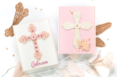 Spellbinders Expressions of Faith Collection. Handmade religious card by Jenny Colacicco #Spellbinders #NeverStopMaking #DieCutting #GlimmerHotFoilSystem