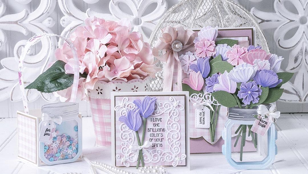 March 2021 Amazing Paper Grace Die of the Month is Here – Mini 3D Vignette Floral Mason Jar