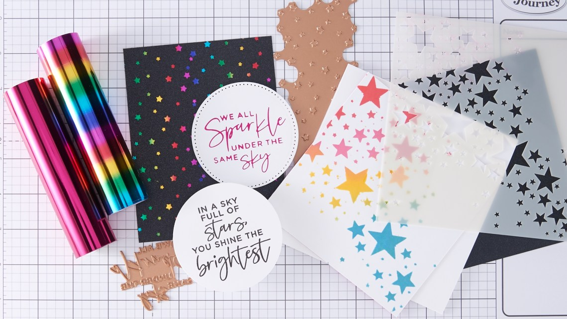 Spellbinders Live - Star Background 3 Ways + Glimmer Tips