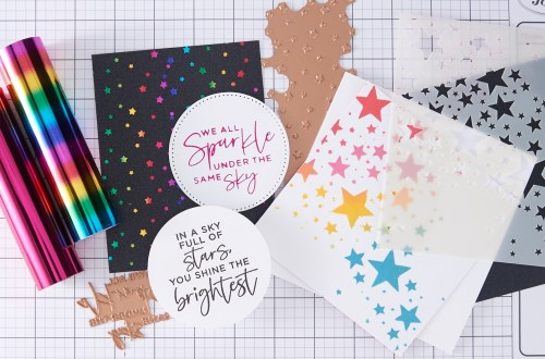 Spellbinders Live - Star Background 3 Ways + Glimmer Tips