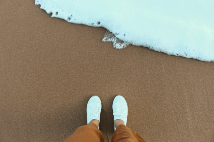 spellbound travels shoes in sand