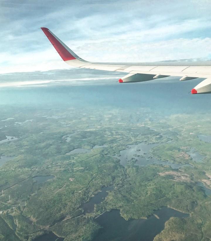 spellbound travels window seat plane view