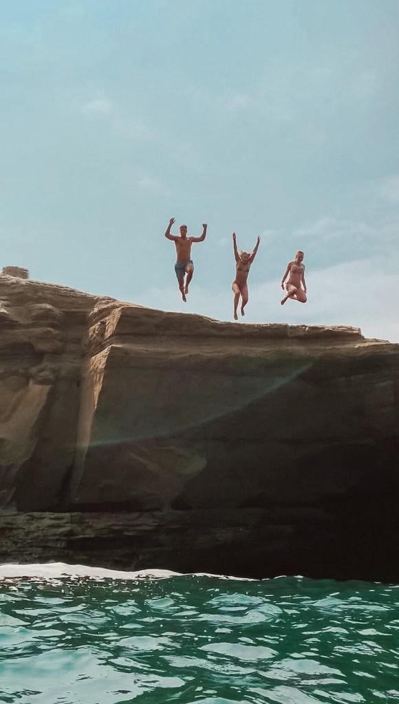 spellbound travels sunset cliffs cliff jumping san diego