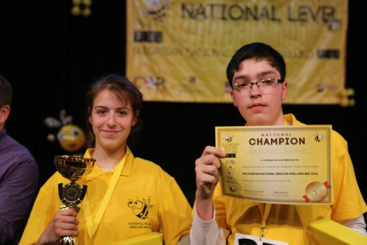 Шампионите Никол Петрова и Владимир Живков