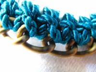 Turquoise cord crochet