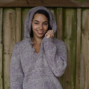 Chunky Knit Hoody by Black Yarns