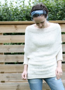 Backwards upside down sweater by Pickles