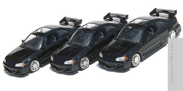 Black Custom Furious And Fast Civic Honda