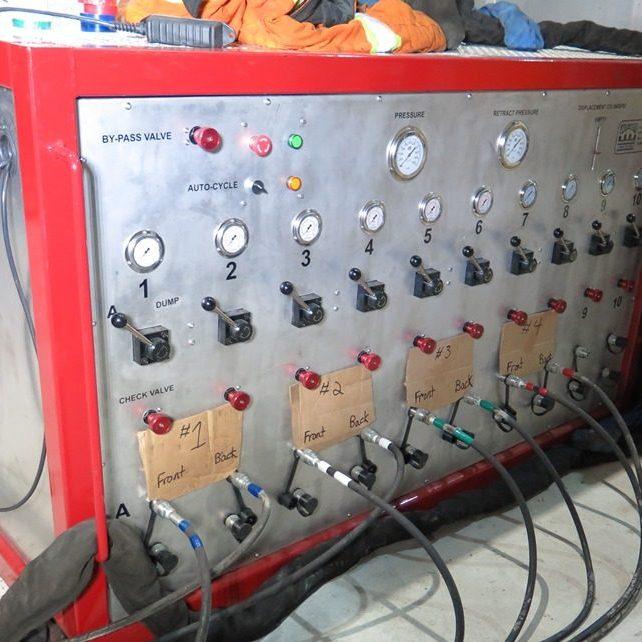 Mine hoist bearing change procedure hydraulic jacking pump unit