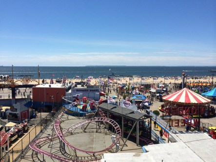 View from the ferris wheel, Coney Island