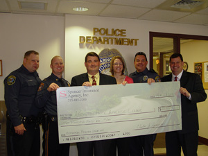 Spencer Insurance Donates Check To Abington PAL