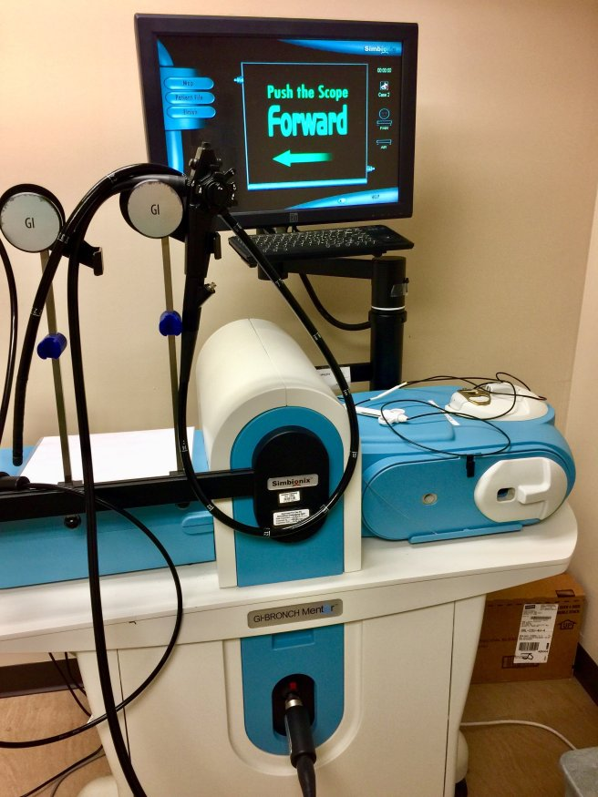 GI endoscopy simulator
