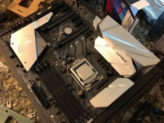 Coffee Lake CPU (carefully) installed