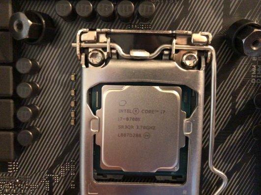 Close-up of the CPU