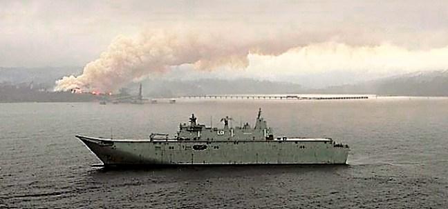 HMAS Adelaide bushfire rescue