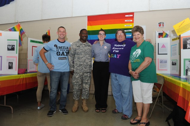 Judi (on the far right) poses with several other participants from the 2015 National Guard Diversity Day