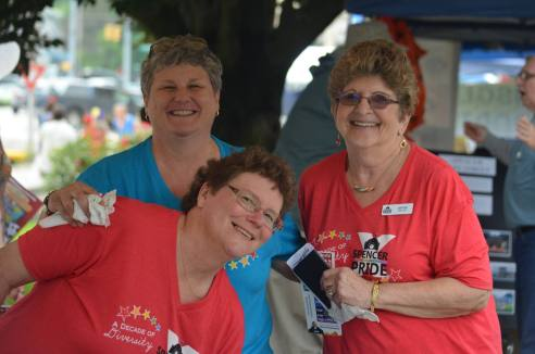 Volunteers at Welcome Booth