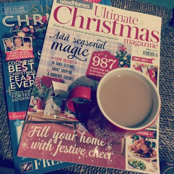 Kids are in bed. All be it mine. Hubby is on his way home and I'm having a quite bath time with my decaf and some Christmas mags. :-) #christmascountdown #metime #mummymetime #cuppa #goodhomesmagazine #christmas