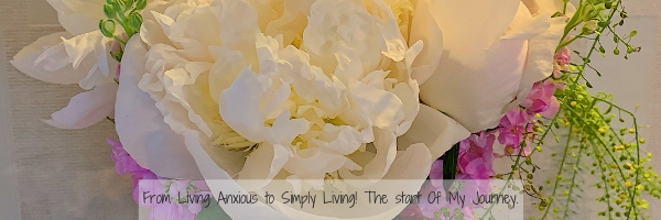 flowers with Living Consciously and Simply  to Improve Mental Health title