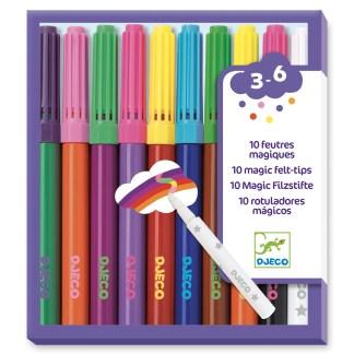 Djeco Magic Felt Tip Pens – 10