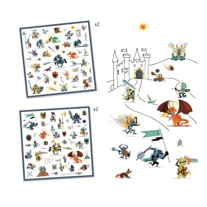 Djeco Stickers – Knights