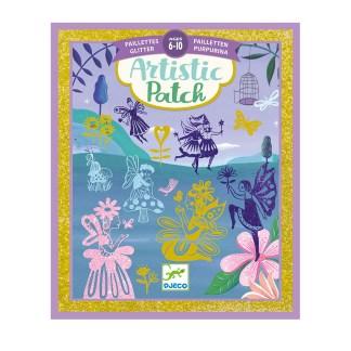 Djeco Artistic Patch Glitter Art – Fairyland