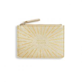 Katie Loxton Gold Print Card Holder – Choose To Shine