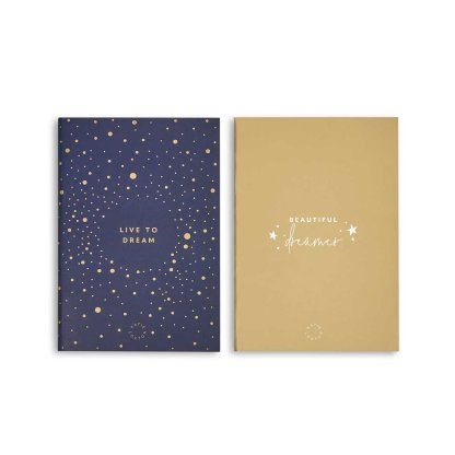 Katie Loxton Duo Pack Notebooks – Navy and Gold