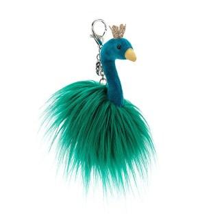 Jellycat Fancy Peacock Bag Charm