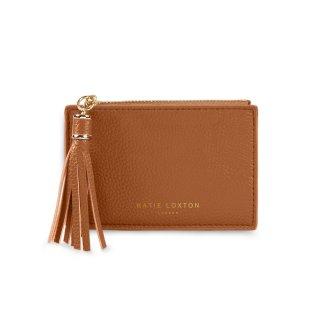 Katie Loxton Sophia Tassel Coin/Card Purse – Cognac