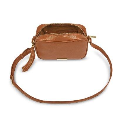 Katie Loxton Sophia Tassel Crossbody Bag – Cognac