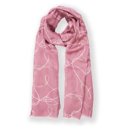 Katie Loxton Printed Scarf – Heart Print, Pink