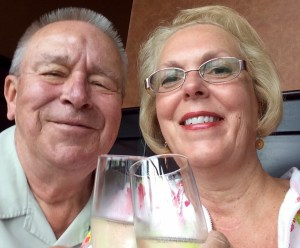Toasting with our glasses of Prosecco, good times!