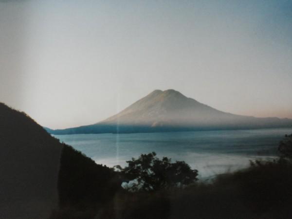 vulcano by lago atitlan