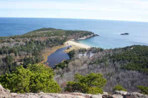 Acadia National Park - view from Beehive summit