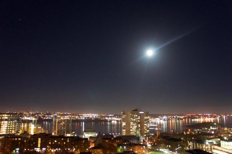 Super moon over Halifax