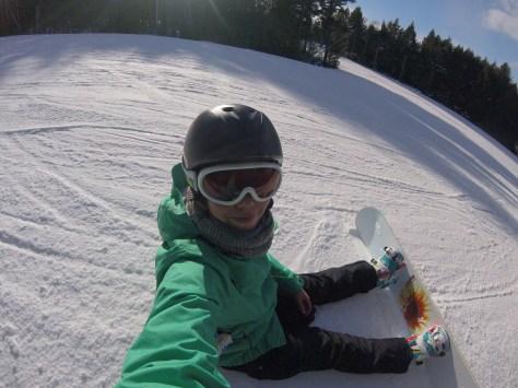 Snowboarding in Martock