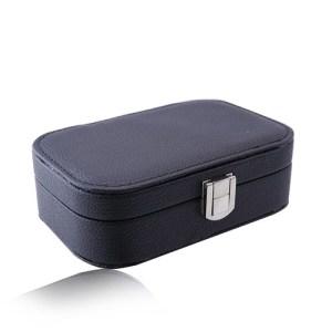 Čierna cestovná šperkovnica - koženka