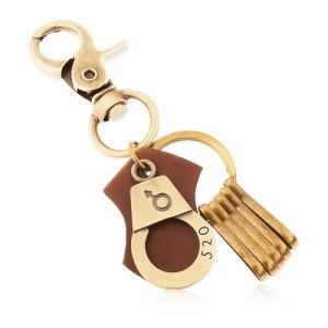 Kľúčenka v mosadznom odtieni
