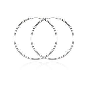 Kruhové náušnice zo striebra 925 - jednoduchý