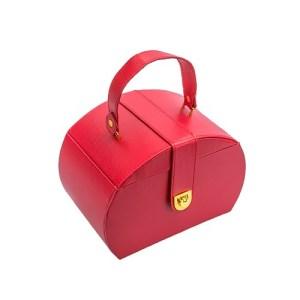 Kufríková červená šperkovnica