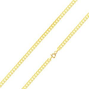 Lesklá retiazka v žltom 14K zlate - ploché