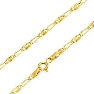 Retiazka v žltom 14K zlate - dlhé očko