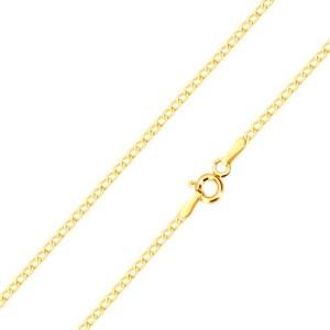 Retiazka v žltom 14K zlate - malé ploché očká oválneho tvaru