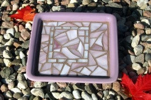 Purple candle plate (square)