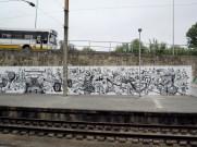 Street art at Coimbra train station