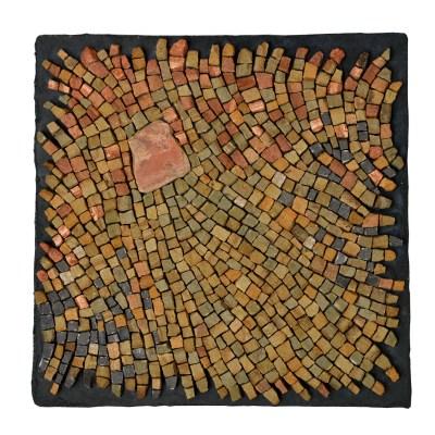"""grounded"" mosaic, sandstone, by Julie Sperling"